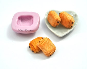 BREAD MOLD  ST051 croissant bakery flexible silicone mold polymer clay jewelry charms sweet dollhouse miniature food kawaii cabochon