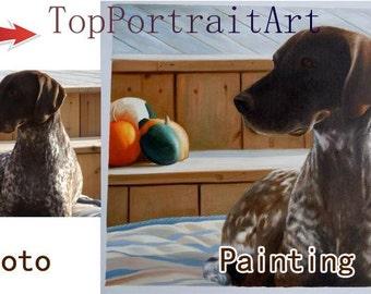 Custom portrait painting,hand painted original realistic oil painting family oil portrait,pet portrait,children portrait etc,One Figure