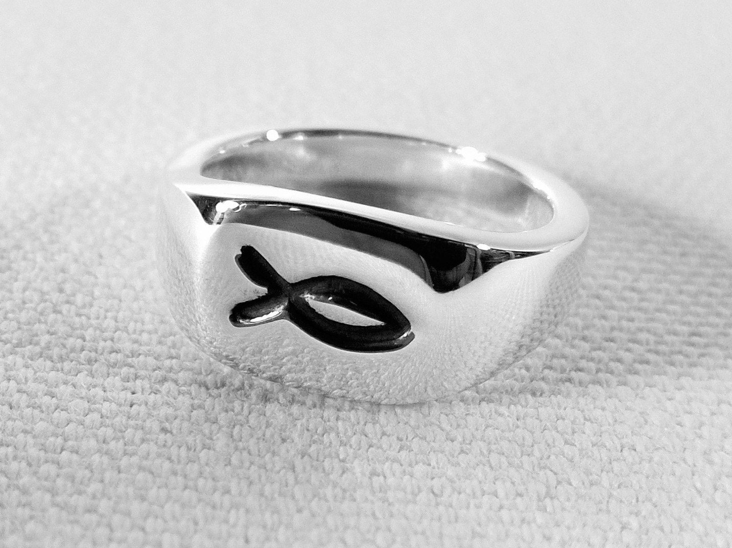 christian fish ring in sterling silver sterling silver jesus