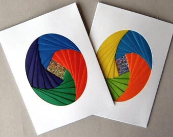 2 Do-It-Yourself Cards with Iris Folding Design DIY