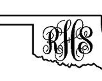 Oklahoma Monogram Decal