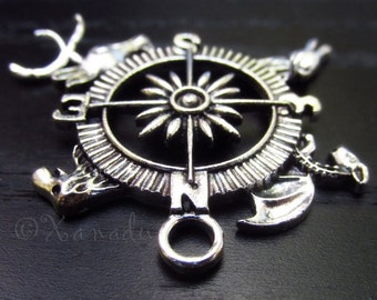Game Of Thrones Silver Pendant Charm With Wolf, Stag, Dragon, Lion Sigils - 3/5/10 Wholesale Silver Plated Charms C2174