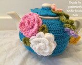 Pattern for Tea cosy crochet pattern medium 4 to 6 cups tea pot cover cozy cosie PDF document, instant download
