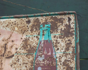 Authentic Vintage Coke Sign / genuine rust /