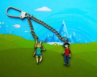 New Adventure Time! Fionna & Marshall Lee keychain  Free UK Postage!
