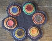Autumn Penny Rug Candle Mat, FAAP, OFG, HAFAIR