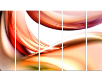 Abstract Ready to hang set of 5 wall art print mounted on fiberboards/better than stretched canvas arts/Huge Size