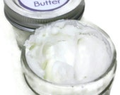 Homemade, all natural lavender whipped body butter --2, 4, and 8 oz