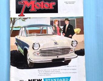 "November 19th 1958 ""The Motor""  vintage British weekly car magazine"