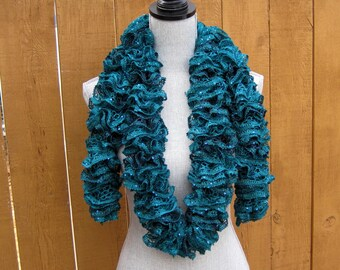 Dark Teal Green Knit scarf