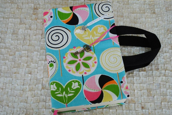 Fabric Book Cover For Sale ~ Fabric book cover with handles by maria natalia on etsy