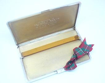Silver Cigarette Case, Sterling, English, Vintage, Solid, England, Hallmarked 1938, LARGE, REF:220H