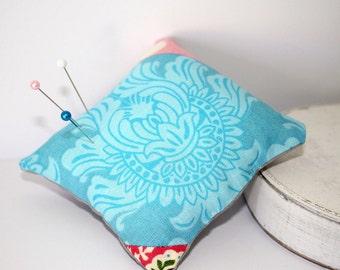 """Small 3"""" x 3"""" Handmade Sewing Pin Cushion"""