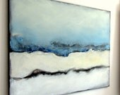 Art Abstract Blue Acrylic Painting-Blue Painting--Energy Blue Canvas
