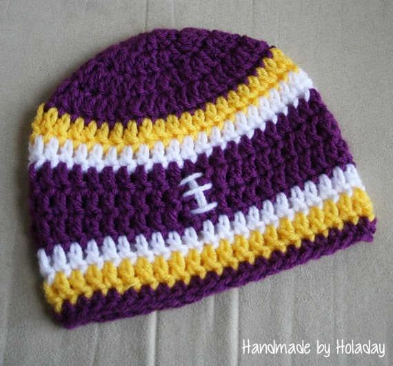 Items similar to Crochet Football Hat, Football Beanie ...