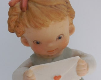 "Memories of Yesterday Porcelain Figurine ""He Hasn't Forgotten Me"" 1989 Edition 523267 Retired"