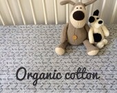 Organic fitted cot sheet. Gray. Ready made. 100% organic cotton. Modern organic baby fitted cot crib sheet by Avie and Mabel, Australia