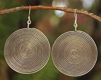 The Maze Hill Tribe Sterling Silver Dangle Earrings