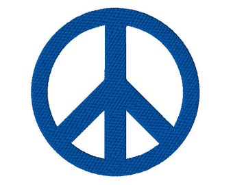 Solid Peace Sign Machine Embroidery Design - 3 sizes