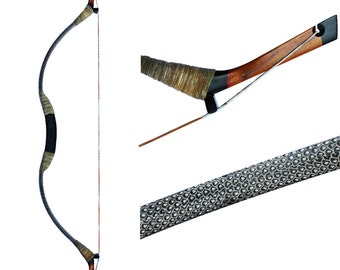 MAYARMS Archery bow Hunting bow Traditional Hand-made Archery Longbow Snakeskin 20-70lbs