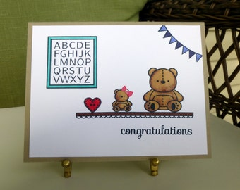 Baby Shower Card, Welcome Baby Card, Congratulations Baby Card, Handmade Card