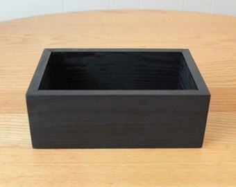 Wooden Black Box Wedding Centerpiece Flower Planter Storage Key Holder Organizer (8.5 x 5.5 & Wooden Box Dark Brown 10x10x4 Wedding Centerpiece Flower Box Aboutintivar.Com