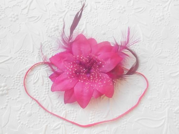 Hot Pink Flower  Baby Headband, Newborn Headband,  Infant Headband,Baby Headband, Headband Baby, Baby Headband