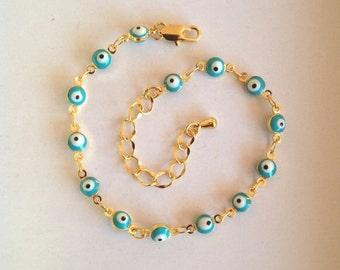 Gold Evil Eye Bracelet Boho  Jewelry UK boho bracelet