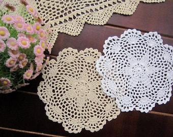 Lot of 12 pcs, hand crochet doilies for wedding, handmade doilies centerpiece, table mat for  home decor