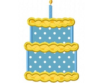 1st Birthday Cake  Applique Machine Embroidery DESIGN NO. 218