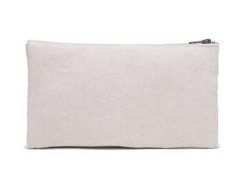 Cream Canvas Cosmetic Bag White Canvas Toiletry Bag Canvas