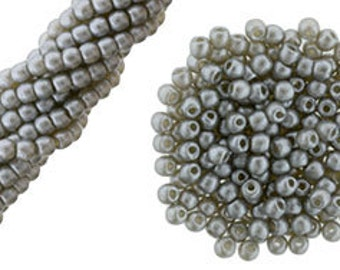 Czech Glass 2mm Pearls - 1 Strand - 100 Pearls - Silver