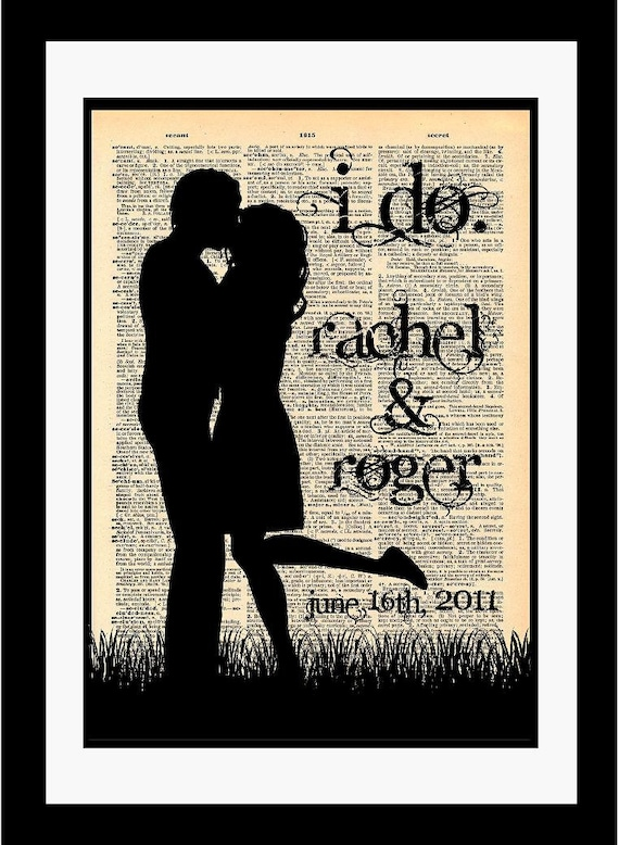 Art Piece Wedding Gift : ... Paper Unique Piece Of Fine Art Wedding Gift Anniversary I Do