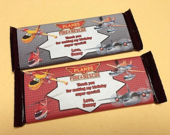 Printable Planes Fire and rescue Hershey Wrappers - Disney ...