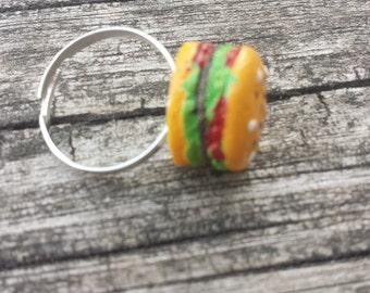Hamburger Adjustable Ring