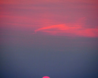 Sodus Point Lake Ontario Sunset NY 8x10 or 5x7 Fine Art Print Digital   Photography