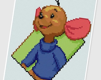 PDF Cross Stitch pattern - 0254.Roo ( Winnie the Pooh ) - INSTANT DOWNLOAD