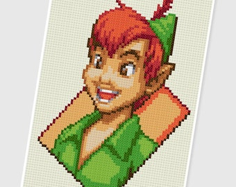 PDF Cross Stitch pattern - 0026.Peter Pan - INSTANT DOWNLOAD