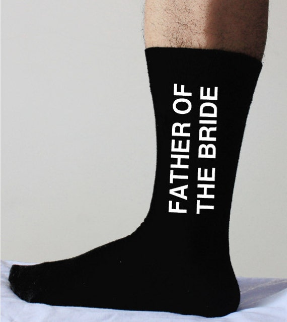 Father Of The Bride Socks Wedding Fatherwedding Father Of