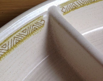 Mid-Century Vintage Franciscan Earthenware Divided Dish