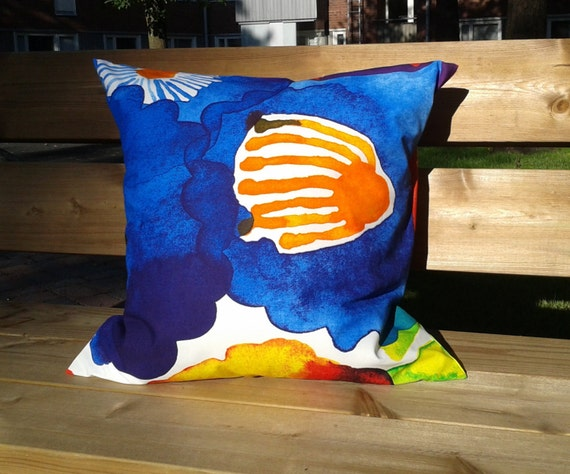 Marimekko Throw Pillow Covers : Pillow cover made from Marimekko fabric pillow case pillow