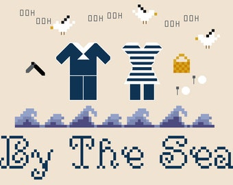 PATTERN - By The Sea - Sweeney Todd Inspired Cross Stitch Pattern