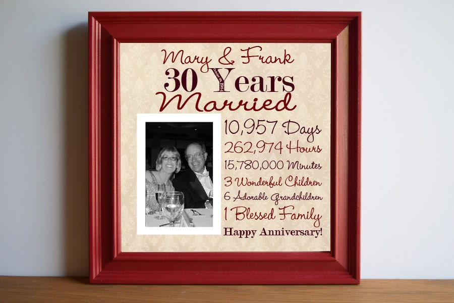 Wedding Anniversary 30th Wedding Anniversary Gift by framedaeon