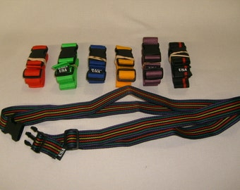 Luggage straps,security strap for luggage, assorted colors Made in U.S.A.