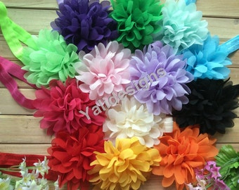 U Pick Wholesales Lace Chiffon Scalloped Flower Headband Baby Headbands Newborns Headbands. Girl's Headband YTH42