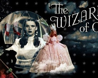 The Wizard of Oz Collage   Fabric Art Quilt Block   TWOO- FREE SHIPPING