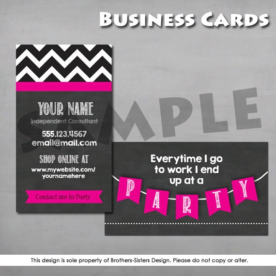 Direct Sales Business Card Chalkboard by BrotherSistersDesign