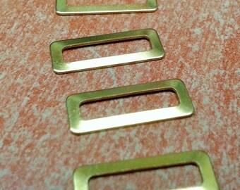 100 Pcs Raw Brass 6 x 15.5 mm Rectangular Findings