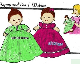 Happy / Tearful Topsy Turvy Doll Pattern