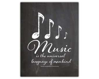 Music art print - inspirational printable - poem art - dance studio decor - motivational wall decor - music wall art - music quotes